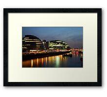 City Halll At Night Framed Print