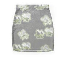Primroses in Charcoal and Ink Mini Skirt