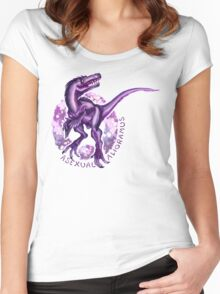 Asexual Alioramus (with text)  Women's Fitted Scoop T-Shirt