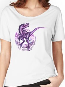Asexual Alioramus (with text)  Women's Relaxed Fit T-Shirt