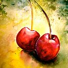 Cherries..Two... by © Janis Zroback