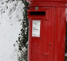 Brilliant Red Postbox by StephLanfear