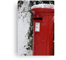 Brilliant Red Postbox Canvas Print