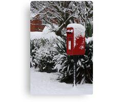 Brilliant Red Postbox ll Canvas Print