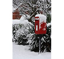 Brilliant Red Postbox ll Photographic Print