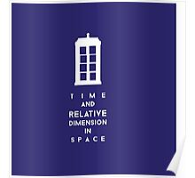 Time and relative dimension in space Poster