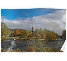 Peebles from the Tweed Poster