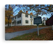 The Pierce Homestead, New Hampshire, USA Canvas Print