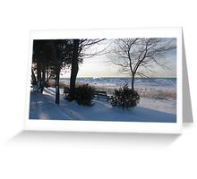 Winter On The Lake Greeting Card