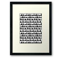 Playful triangles Framed Print