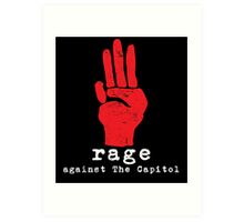 Rage Against The Capitol Art Print