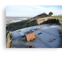 Purton hulk and frost Canvas Print