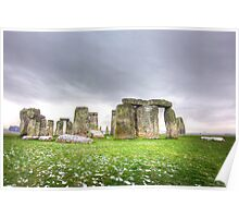 Mysterious Stonehenge Poster