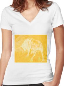 Yellow Bull Negative Women's Fitted V-Neck T-Shirt