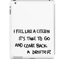 Basquiat Citizen Drifter BLK iPad Case/Skin