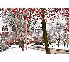 A Normal Rockwell Winter's Day Photographic Print