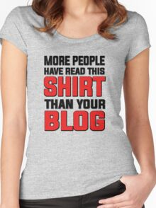 More people have read this shirt than your blog Women's Fitted Scoop T-Shirt