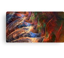 On Angels Wings (vibrant) Canvas Print