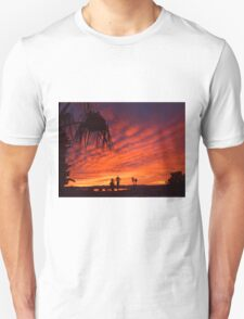 Christmas Eve Sunset Unisex T-Shirt