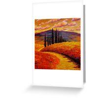 Tuscany Cypress Path Greeting Card