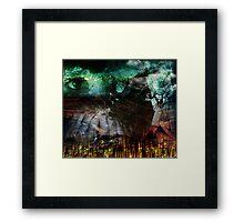 Kid Fears (image & poem) Framed Print