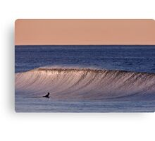 Sky, Ocean, Wave and Surfer Canvas Print