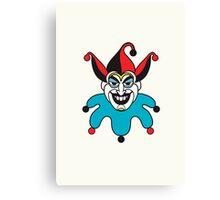 Clean Joker Card Canvas Print