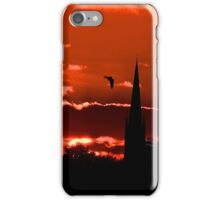 south dalton church sunset iPhone Case/Skin