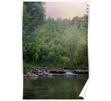 Ngamuwahine River at dusk Poster