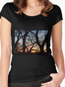 beautiful sunset Women's Fitted Scoop T-Shirt