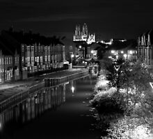 beverley minster black and white at night by nickhedges