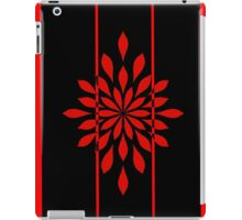 red on black  iPad Case/Skin