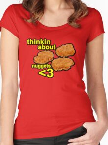 Thinking about nuggets <3 Women's Fitted Scoop T-Shirt