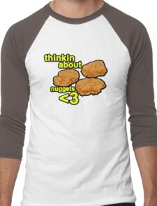 Thinking about nuggets <3 Men's Baseball ¾ T-Shirt