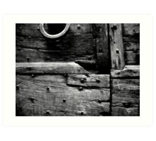 Timbers in Black and White Art Print