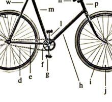Anatomy Of A Bike! Sticker