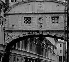 The Bridge of Sighs, Venice, Italy. by Trish Kinrade