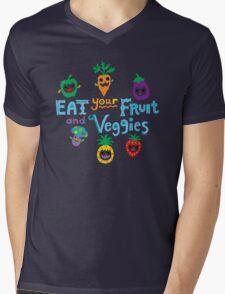 eat your fruit and veggies ll  Mens V-Neck T-Shirt