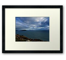 Sky, Ocean, Islands - Kerry, Ireland Framed Print