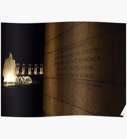 World War II Memorial- Washington D.C. Poster
