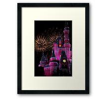 Fireworks in Pink Framed Print