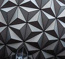 Epcot Sphere by Elizabeth  Hubbard