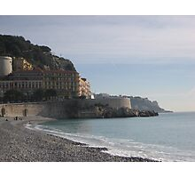 Very High Seawall in Nice, France Photographic Print