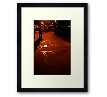 Sidewalk Water Art Framed Print