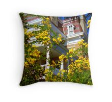 South Battery Floral Throw Pillow