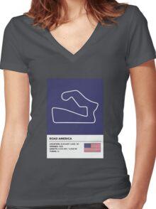 Road America - v2 Women's Fitted V-Neck T-Shirt