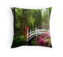 Magnolia Bridge No. 3, Charleston, SC Throw Pillow