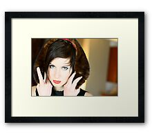 """Simply Eyes"" Framed Print"