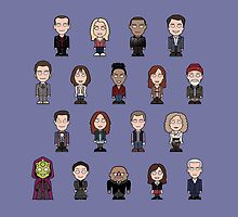 New Who Doctors and Companions (pillow/bag) by redscharlach