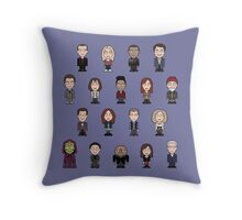 New Who Doctors and Companions (pillow/bag) Throw Pillow